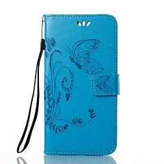 Недорогие Кейсы для Huawei других серий-Кейс для Назначение Huawei Honor 4X / Huawei P9 / Huawei P9 Lite P10 / P9 Кошелек / Бумажник для карт / со стендом Чехол Бабочка / Цветы Твердый Кожа PU для P10 Plus / P10 Lite / P10 / Huawei P9 Plus