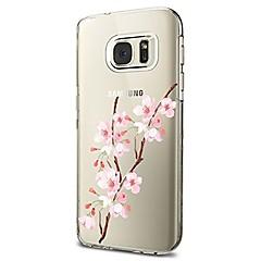 hoesje Voor Samsung Galaxy S8 Plus S8 Transparant Patroon Achterkantje Bloem Zacht TPU voor S8 S8 Plus S7 edge S7 S6 edge plus S6 edge S6