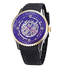 Men's Women's Skeleton Watch Wrist watch Mechanical Watch Japanese Automatic self-winding Calendar / date / day Chronograph Water