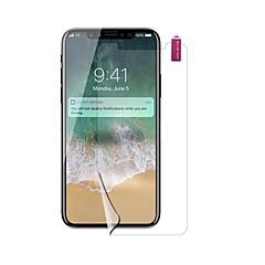 Недорогие Защитные пленки для iPhone X-Защитная плёнка для экрана для Apple iPhone X PET 1 ед. Защитная пленка для экрана HD / Взрывозащищенный