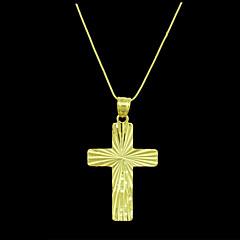 お買い得  ペンダント-男性用 ペンダント  -  ゴールドメッキ 十字架 ペンダント 用途 日常