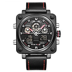 Men's Sport Watch Dress Watch Fashion Watch Chinese Quartz Calendar Chronograph Water Resistant / Water Proof Noctilucent Leather Genuine
