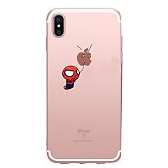 Недорогие Кейсы для iPhone 7-Назначение iPhone X iPhone 8 Чехлы панели С узором Задняя крышка Кейс для Композиция с логотипом Apple Мультипликация Мягкий Термопластик