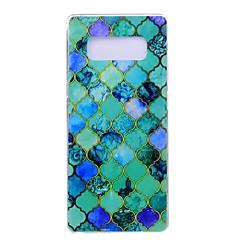 Etui Käyttötarkoitus Samsung Galaxy Note 8 Ultraohut Kuvio Takakuori Geometrinen printti Pehmeä TPU varten Note 8 Note 5 Edge Note 5 Note