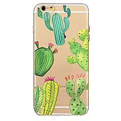 Назначение iPhone 7 iPhone 7 Plus Чехлы панели Ультратонкий Прозрачный С узором Задняя крышка Кейс для дерево Мягкий Термопластик для