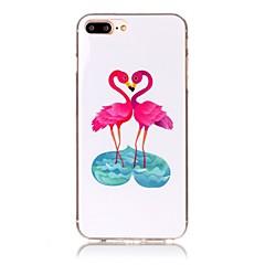 Voor iPhone X iPhone 8 Hoesje cover Ultradun Patroon Achterkantje hoesje Flamingo Zacht TPU voor Apple iPhone X iPhone 7s Plus iPhone 8