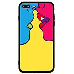 Недорогие Кейсы для iPhone 5-Кейс для Назначение Apple iPhone 7 Plus iPhone 7 Матовое С узором Кейс на заднюю панель Соблазнительная девушка Твердый Акрил для iPhone