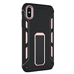 Назначение iPhone X iPhone 8 iPhone 8 Plus Чехлы панели Защита от удара со стендом Задняя крышка Кейс для броня Твердый PC для Apple