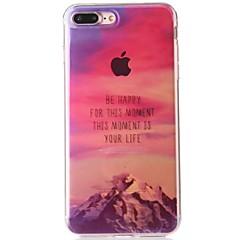Недорогие Кейсы для iPhone-Кейс для Назначение Apple iPhone 7 IMD / С узором Кейс на заднюю панель Слова / выражения / Пейзаж Мягкий ТПУ для iPhone 7 Plus / iPhone 7 / iPhone 6s Plus