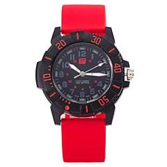 Heren Modieus horloge Polshorloge Vrijetijdshorloge Chinees Kwarts Silicone Band Vrijetijdsschoenen Elegante horloges Zwart Wit Blauw