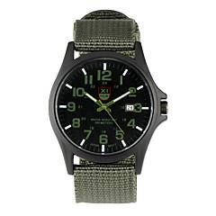 preiswerte Tolle Angebote auf Uhren-Paar Armbanduhr Großes Ziffernblatt / Punk / Cool Stoff Band Retro / Freizeit / Modisch Schwarz / Blau / Braun