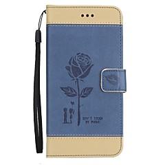 Недорогие Чехлы и кейсы для Galaxy Note 5-Кейс для Назначение SSamsung Galaxy Note 8 Note 5 Кошелек Бумажник для карт со стендом Флип Рельефный Чехол Цветы Твердый Искусственная