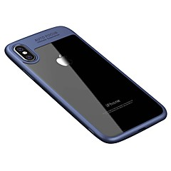 Para iPhone X iPhone 8 Case Tampa Transparente Capa Traseira Capinha Côr Sólida Rígida Acrílico para Apple iPhone X iPhone 8 Plus iPhone