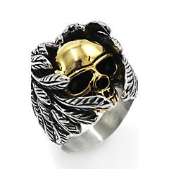 Муж. Классические кольца Хип-хоп Chrismas Нержавеющая сталь В форме черепа Бижутерия Назначение Halloween фестиваль