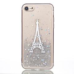Недорогие Кейсы для iPhone 6-Кейс для Назначение Apple iPhone 7 Plus iPhone 7 С узором Кейс на заднюю панель Эйфелева башня Мягкий Силикон для iPhone 7 Plus iPhone 7