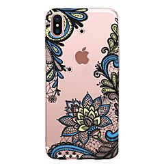 Για iPhone X iPhone 8 Θήκες Καλύμματα Διαφανής Με σχέδια Πίσω Κάλυμμα tok Lace Εκτύπωση Μαλακή TPU για Apple iPhone X iPhone 8 Plus