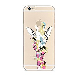 Назначение iPhone 7 iPhone 7 Plus Чехлы панели Ультратонкий Прозрачный С узором Задняя крышка Кейс для Животное Мультипликация Мягкий