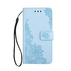 Назначение iPhone X iPhone 8 Чехлы панели Кошелек Бумажник для карт со стендом Флип Рельефный С узором Магнитный Чехол Кейс для Кружева