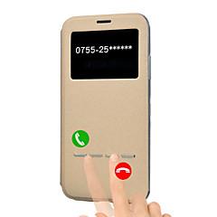 Недорогие Кейсы для iPhone 5-Кейс для Назначение Apple iPhone X iPhone 8 Plus со стендом с окошком Флип Авто Режим сна / Пробуждение Чехол Сплошной цвет Твердый Кожа