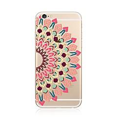 Недорогие Кейсы для iPhone 5-Кейс для Назначение Apple iPhone X iPhone 8 Plus iPhone 7 Plus iPhone 7 Прозрачный С узором Кейс на заднюю панель Мандала Мягкий ТПУ для