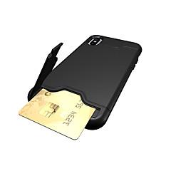 Недорогие Кейсы для iPhone-Кейс для Назначение Apple iPhone X iPhone 8 iPhone 8 Plus iPhone 7 Бумажник для карт со стендом Кейс на заднюю панель Сплошной цвет