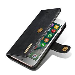 Назначение iPhone X iPhone 8 Plus Чехлы панели Кошелек Бумажник для карт со стендом Флип Чехол Кейс для Сплошной цвет Твердый Натуральная