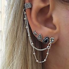 preiswerte Ohrringe-Damen Klips Unterschiedliche Ohrringe - Tropfen, Krone Personalisiert, Retro, Böhmische Silber Für Geschenk Normal Party