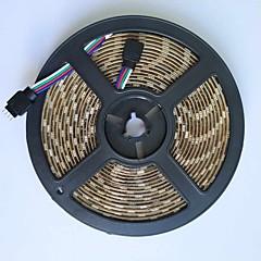 5m led strip lichtlamp 300leds 5050smd rgb dc5v waterdicht voor tv achtergrondverlichting witte pcb 1pcs