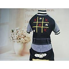 お買い得  犬用ウェア&アクセサリー-犬 Tシャツ デニムジャケット 犬用ウェア カジュアル/普段着 ジーンズ ブルー コスチューム ペット用