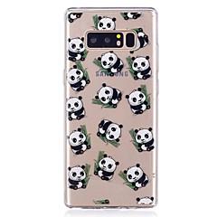 olcso Galaxy Note 3 tokok-Case Kompatibilitás Samsung Galaxy Ultra-vékeny Átlátszó Minta Fekete tok Panda Puha TPU mert Note 8 Note 5 Edge Note 5 Note 4 Note 3