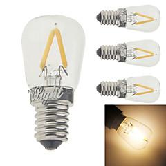 お買い得  LED 電球-4本 2W 150-200 lm E14 フィラメントタイプLED電球 G60 2 LEDの COB 装飾用 温白色 AC 220-240V