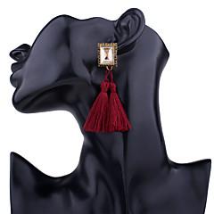 Mujer Pendientes colgantes Cristal Moda De Gran Tamaño Legierung Forma Geométrica Joyas Para Fiesta Diario