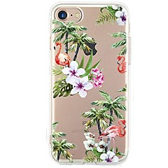 billige Dagens Tilbud-Etui Til iPhone X iPhone 8 Ultratyndt Transparent Mønster Bagcover Flamingo Træ Blødt TPU for iPhone X iPhone 8 Plus iPhone 8 iPhone 7