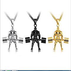 Муж. Ожерелья с подвесками Y-ожерелья Титановая сталь Спорт Бижутерия Назначение Повседневные Праздники