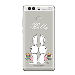 Недорогие Чехлы и кейсы для Huawei Mate-Кейс для Назначение Прозрачный С узором Задняя крышка Прозрачный Животное Мультипликация Мягкий TPU для Huawei P10 Plus Huawei P10 Lite