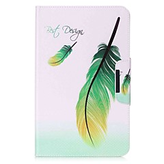 Feathers Pattern Card Holder Wallet with Stand Flip Magnetic PU Leather Case for Samsung Galaxy TAB A 10.1 T580N T585N 10.1 inch Tablet PC