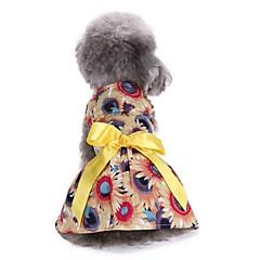 Gato Perro Vestidos Esmoquin Ropa para Perro Fiesta Casual/Diario Boda Navidad Año Nuevo Flores/Botánica Amarillo