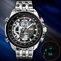 SKMEI Men's Dress Watch Fashion Watch Wrist watch Digital Stainless Steel Band Silver