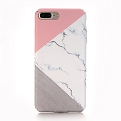 Capinha Para Apple iPhone X iPhone 8 Áspero Estampada Capa Traseira Mármore Rígida PC para iPhone X iPhone 8 Plus iPhone 8 iPhone 7 Plus