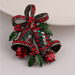 cheap Brooches-Women's Brooches - Rhinestone Brooch Gold For Christmas / Gift