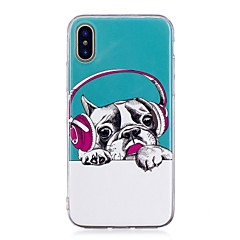 お買い得  iPhone 5S/SE ケース-ケース 用途 Apple iPhone X iPhone 8 Plus 蓄光 IMD パターン バックカバー 犬 ソフト TPU のために iPhone X iPhone 8 Plus iPhone 8 iPhone 7 Plus iPhone 7 iPhone 6s