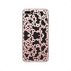 Недорогие Кейсы для iPhone 4s / 4-Кейс для Назначение Apple iPhone X iPhone 8 Прозрачный С узором Кейс на заднюю панель Леопардовый принт Мягкий ТПУ для iPhone X iPhone 8