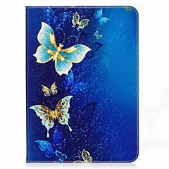preiswerte Tablet-Hüllen-Hülle Für Samsung Galaxy Tab S2 9.7 Ganzkörper-Gehäuse Tablet-Hüllen Schmetterling Hart PU-Leder für