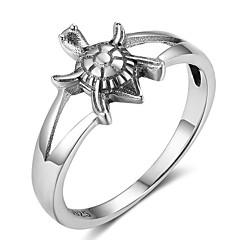 Жен. Классические кольца обожаемый Стерлинговое серебро В форме животных Черепаха Бижутерия Назначение фестиваль