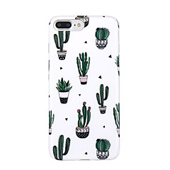 Capinha Para Apple iPhone X iPhone 8 Ultra-Fina Estampada Capa Traseira Árvore Macia TPU para iPhone X iPhone 8 Plus iPhone 8 iPhone 7