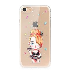 для крышки корпуса ультратонкий прозрачный узор задняя крышка чехол сексуальная леди soft tpu для apple iphone x iphone 8 plus iphone 8