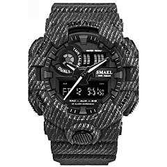 Hombre Reloj Deportivo Chino Digital Calendario Cronógrafo Resistente al Agua alarma Cronómetro PU Banda Negro Blanco Azul