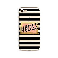Недорогие Кейсы для iPhone 4s / 4-Кейс для Назначение Apple iPhone X iPhone 8 С узором Кейс на заднюю панель Полосы / волосы Слова / выражения Мягкий ТПУ для iPhone X