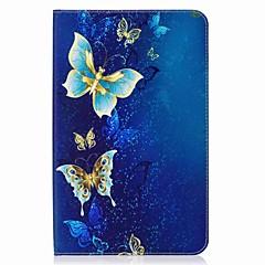 Недорогие -бабочка шаблон карты держатель кошелек с подставкой флип магнитный кожаный чехол pu для Samsung Galaxy Tab e 9.6 t560 t561 9,6-дюймовый