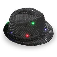 fedora led villogó flitterek jazz sapka hip hop kalap párt születésnapi kalapok sapka esküvő halloween